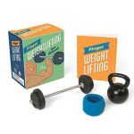 minature weight lifting kit featuring a kettlebell and barbell