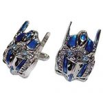 Silver Cufflinks with blue jewels