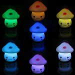 Little mushroom lights in 7 different colours