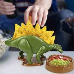 Nachosauras dip and snack set featuring a dinosaur