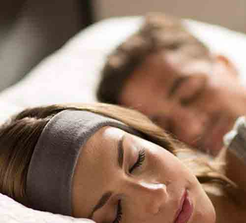 Fall asleep to the relaxing tones of the rainforest with these sleeping band headphones. These headphones are Bluetooth enables and have a decent 13-hour battery life. With a range of 30 feet and two comfortable fabric types, you will be able to block out the noise and restore some inner tranquility during the night.