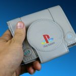 cool Sony Playstation Wallet in someones hand