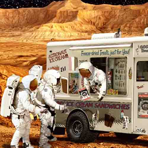 astronaut icecream