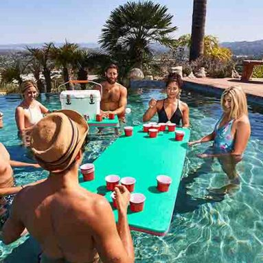 Floating Beer Pong Table